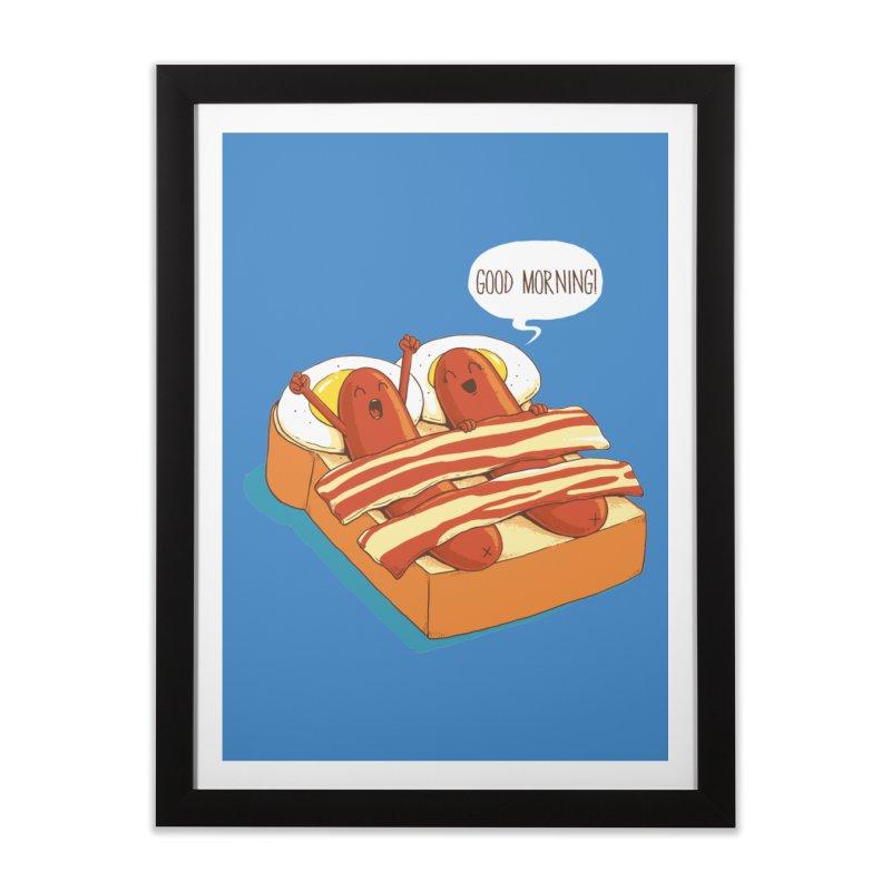 Breakfast on Bed Home Framed Fine Art Print by dandingeroz's Artist Shop
