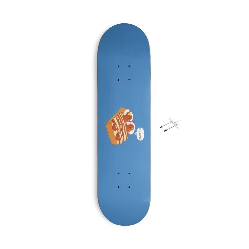 Breakfast on Bed Accessories Skateboard by dandingeroz's Artist Shop