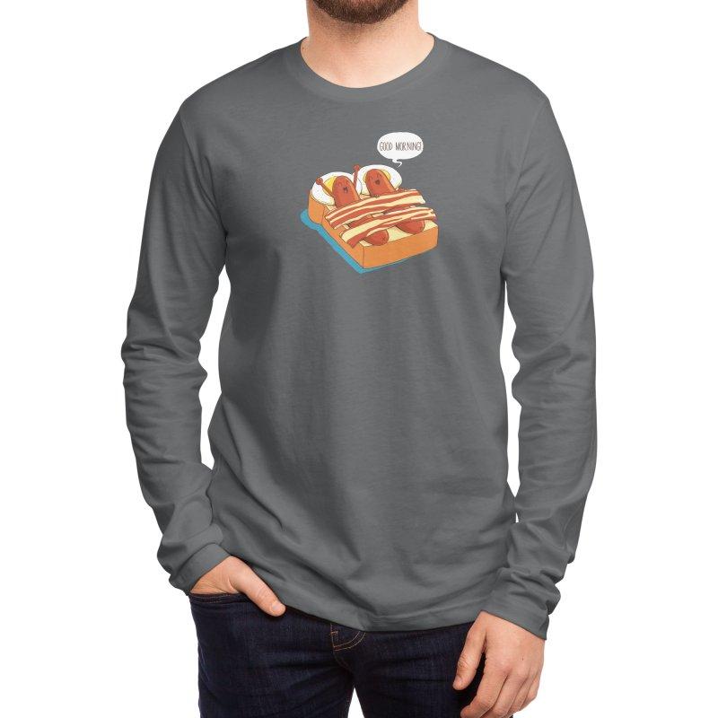 Breakfast on Bed Men's Longsleeve T-Shirt by dandingeroz's Artist Shop