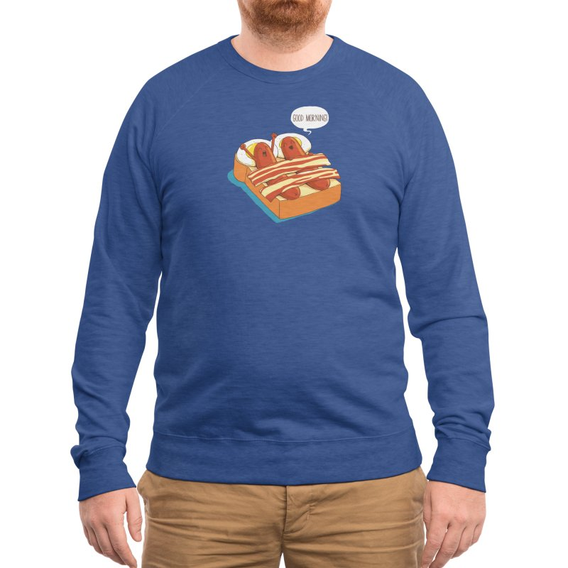 Breakfast on Bed Men's Sweatshirt by dandingeroz's Artist Shop
