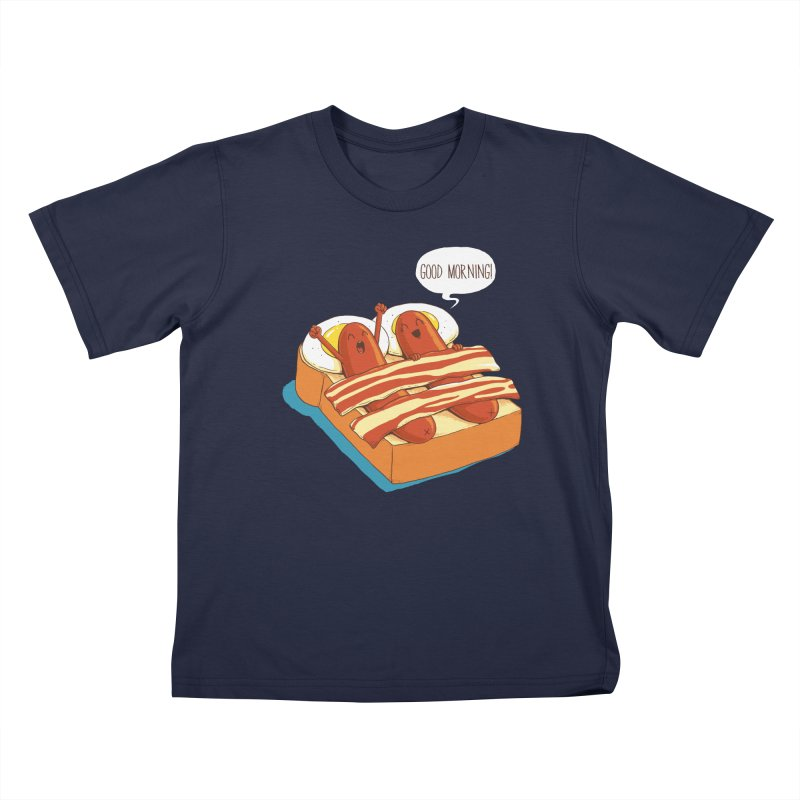 Breakfast on Bed Kids T-Shirt by dandingeroz's Artist Shop