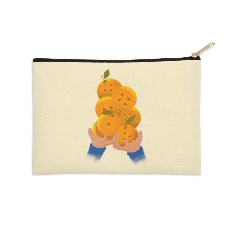 Dragon Citrus Accessories Zip Pouch by dandingeroz's Artist Shop