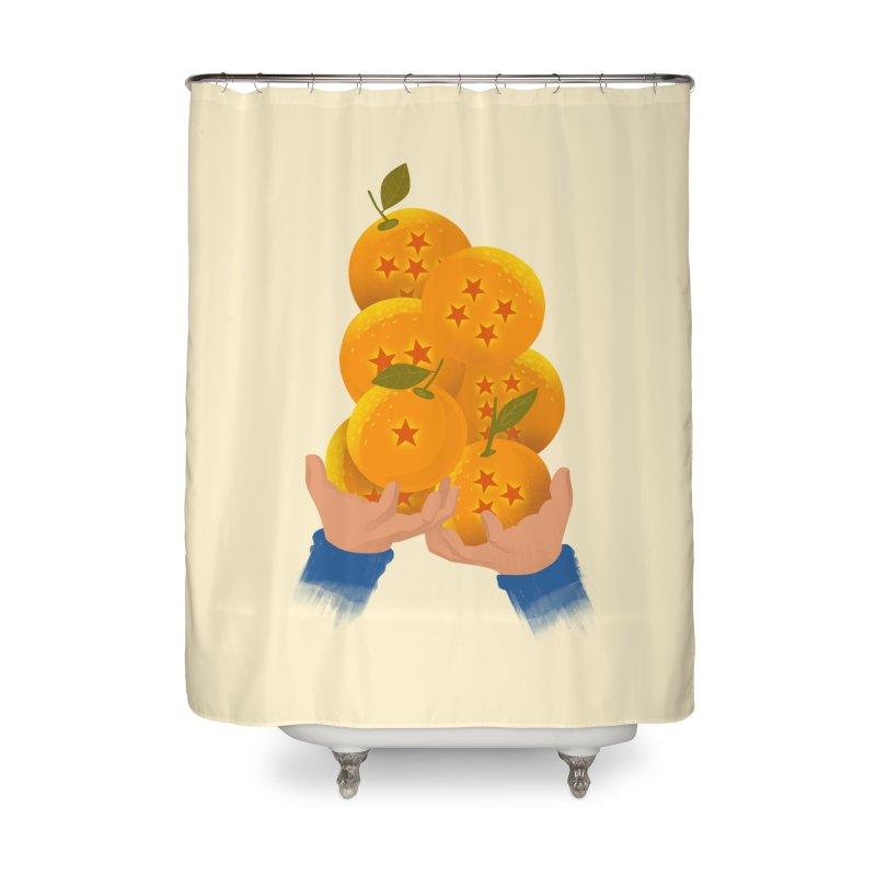 Dragon Citrus Home Shower Curtain by dandingeroz's Artist Shop