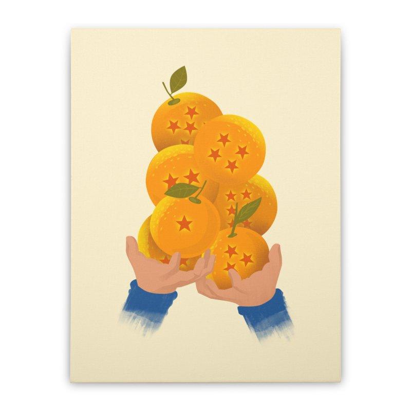 Dragon Citrus Home Stretched Canvas by dandingeroz's Artist Shop