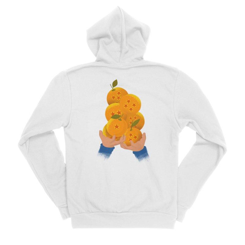 Dragon Citrus Men's Zip-Up Hoody by dandingeroz's Artist Shop