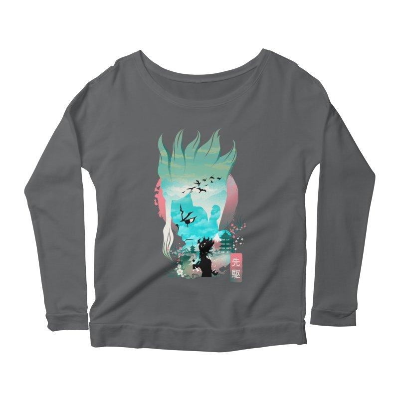 Senku Landscape Women's Longsleeve T-Shirt by dandingeroz's Artist Shop