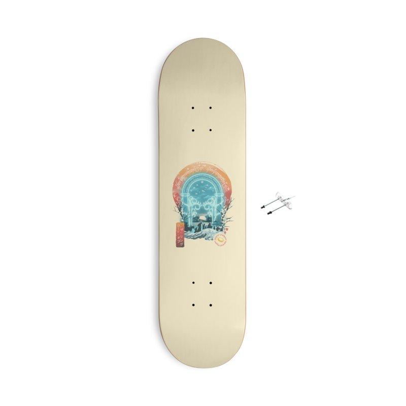 Ukiyo E Magical Landscape Accessories Skateboard by dandingeroz's Artist Shop