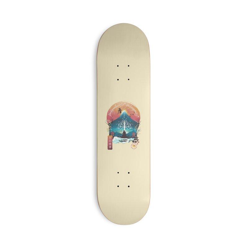 The King Landscape Accessories Skateboard by dandingeroz's Artist Shop