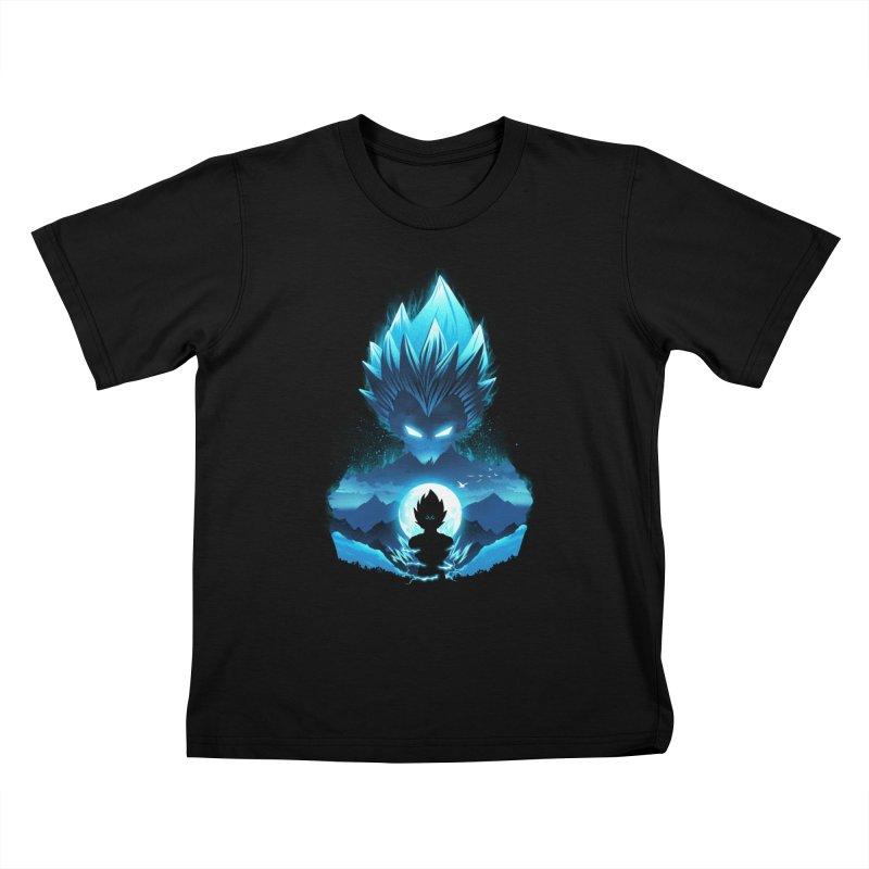 Vegeta Night Kids T-Shirt by dandingeroz's Artist Shop