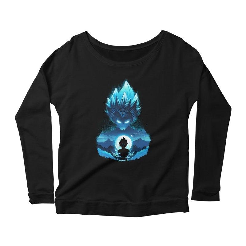 Vegeta Night Women's Longsleeve T-Shirt by dandingeroz's Artist Shop