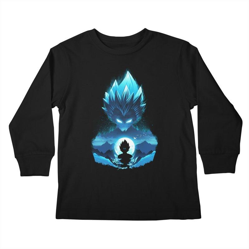 Vegeta Night Kids Longsleeve T-Shirt by dandingeroz's Artist Shop