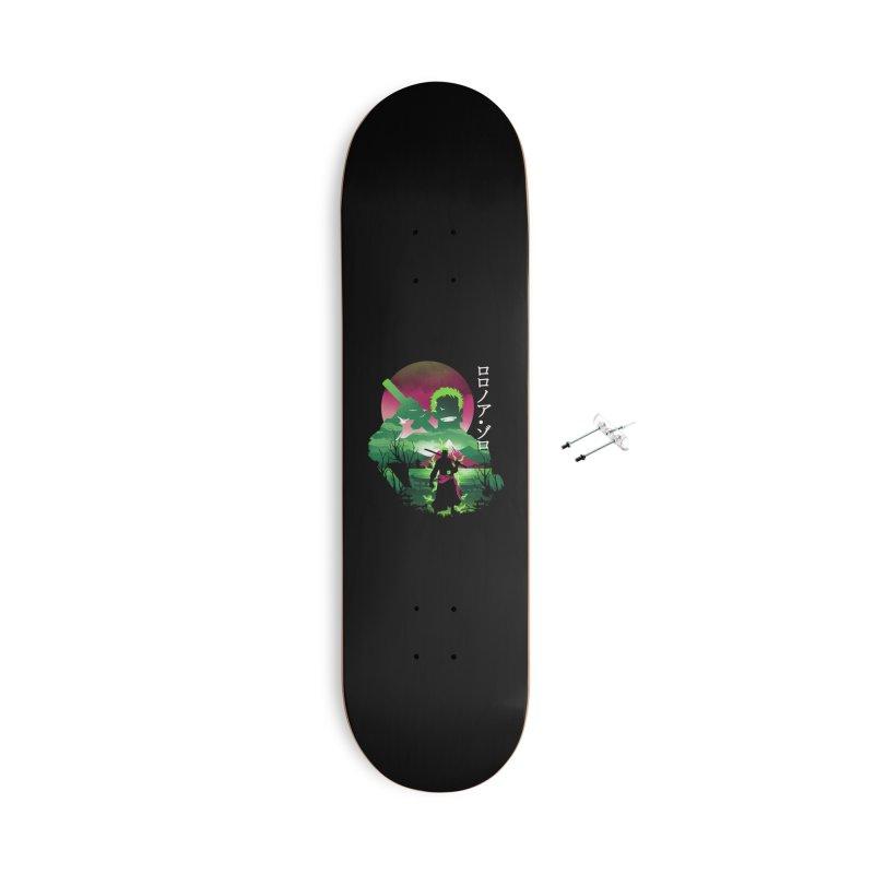 Zoro Landscape Accessories Skateboard by dandingeroz's Artist Shop