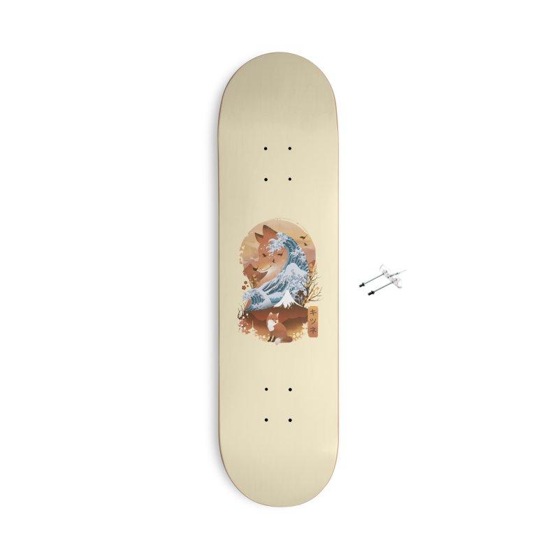 Kitsune Landscape Accessories Skateboard by dandingeroz's Artist Shop