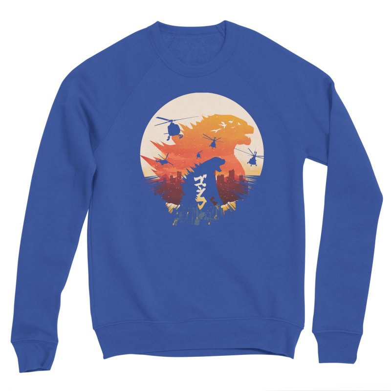 King Kaiju Sunset Women's Sweatshirt by dandingeroz's Artist Shop