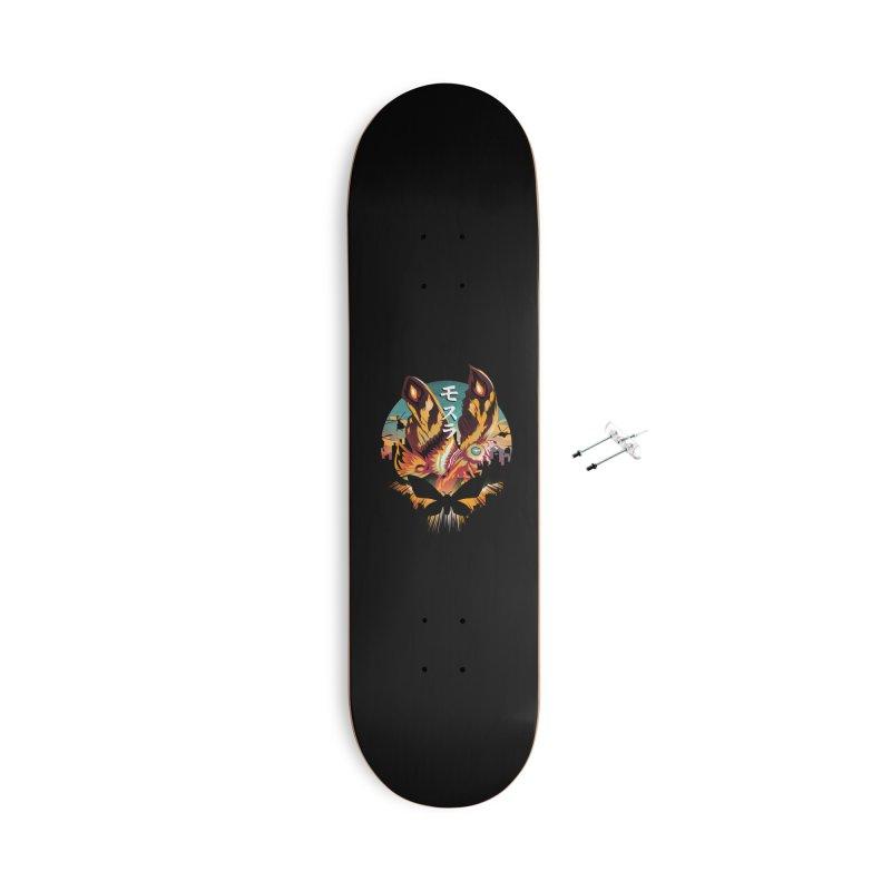 Mothra Sunset Accessories Skateboard by dandingeroz's Artist Shop