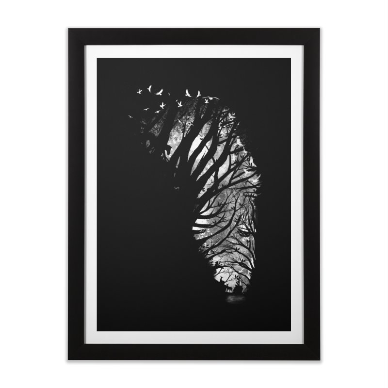 Nature Stripes in Framed Fine Art Print Black by dandingeroz's Artist Shop
