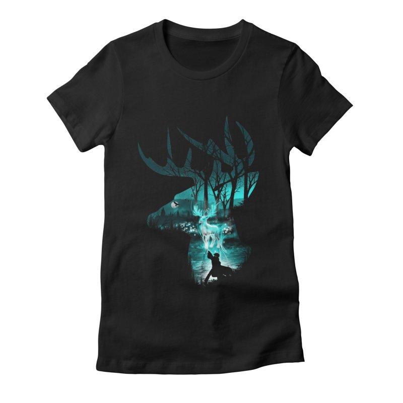 Spirit Animal Women's Fitted T-Shirt by dandingeroz's Artist Shop
