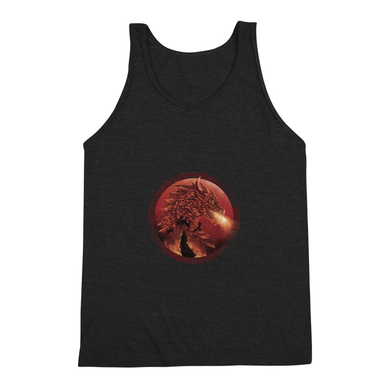 The Queen of Dragon Stone Men's Triblend Tank by dandingeroz's Artist Shop