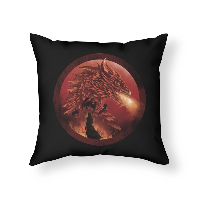 The Queen of Dragon Stone Home Throw Pillow by dandingeroz's Artist Shop