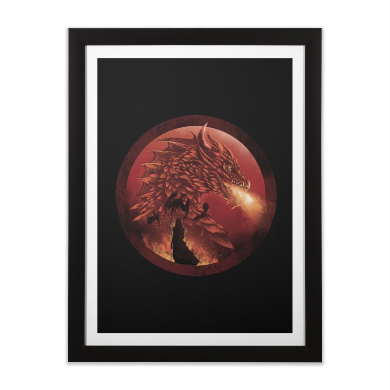 The Queen of Dragon Stone Home Framed Fine Art Print by dandingeroz's Artist Shop