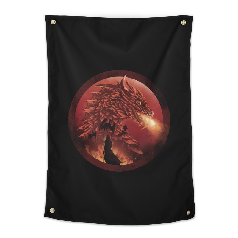 The Queen of Dragon Stone Home Tapestry by dandingeroz's Artist Shop