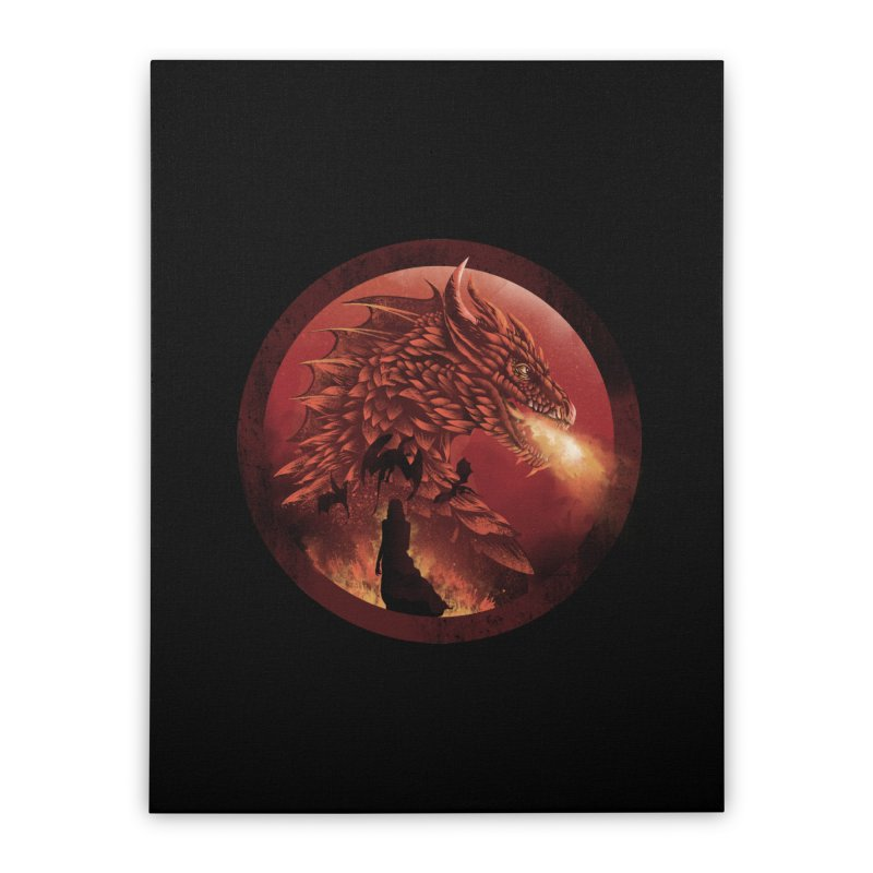 The Queen of Dragon Stone Home Stretched Canvas by dandingeroz's Artist Shop