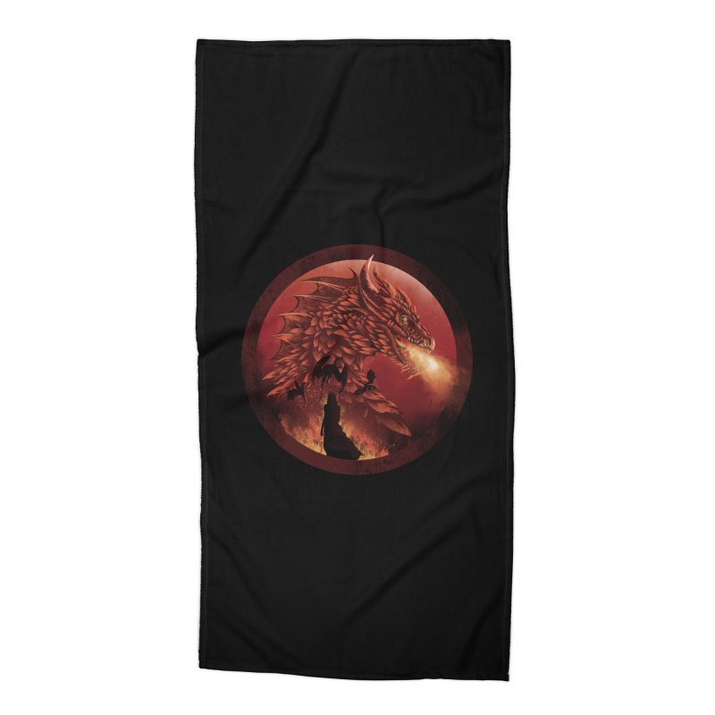 The Queen of Dragon Stone Accessories Beach Towel by dandingeroz's Artist Shop