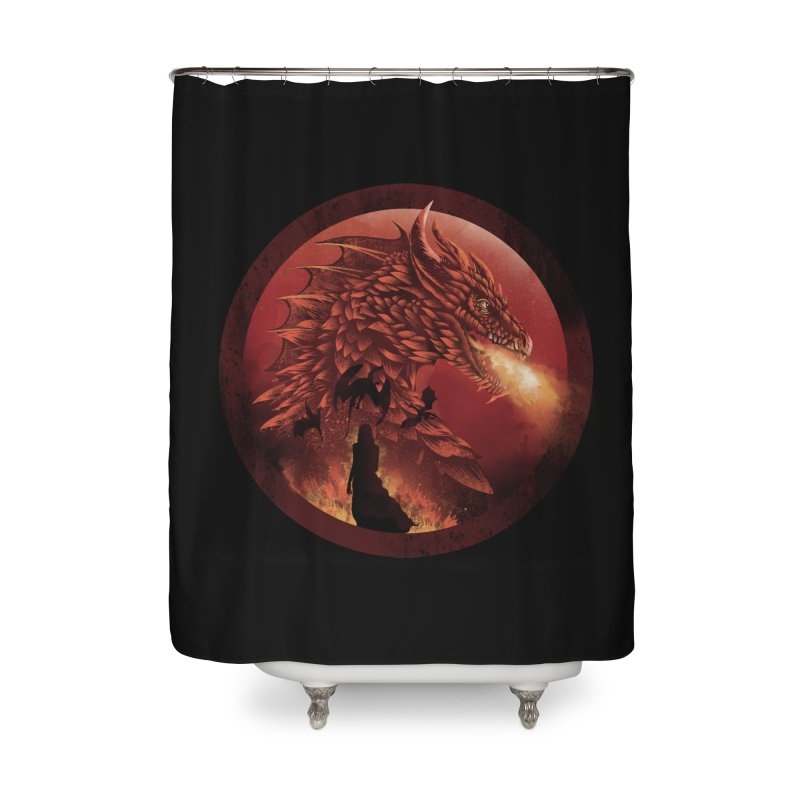 The Queen of Dragon Stone Home Shower Curtain by dandingeroz's Artist Shop