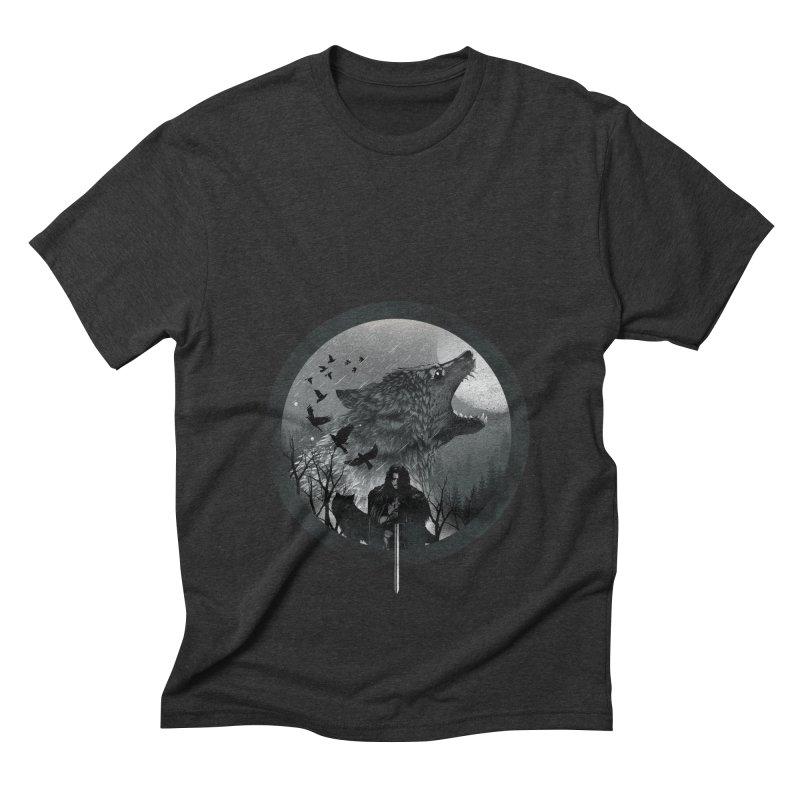 The King of the North Men's Triblend T-shirt by dandingeroz's Artist Shop