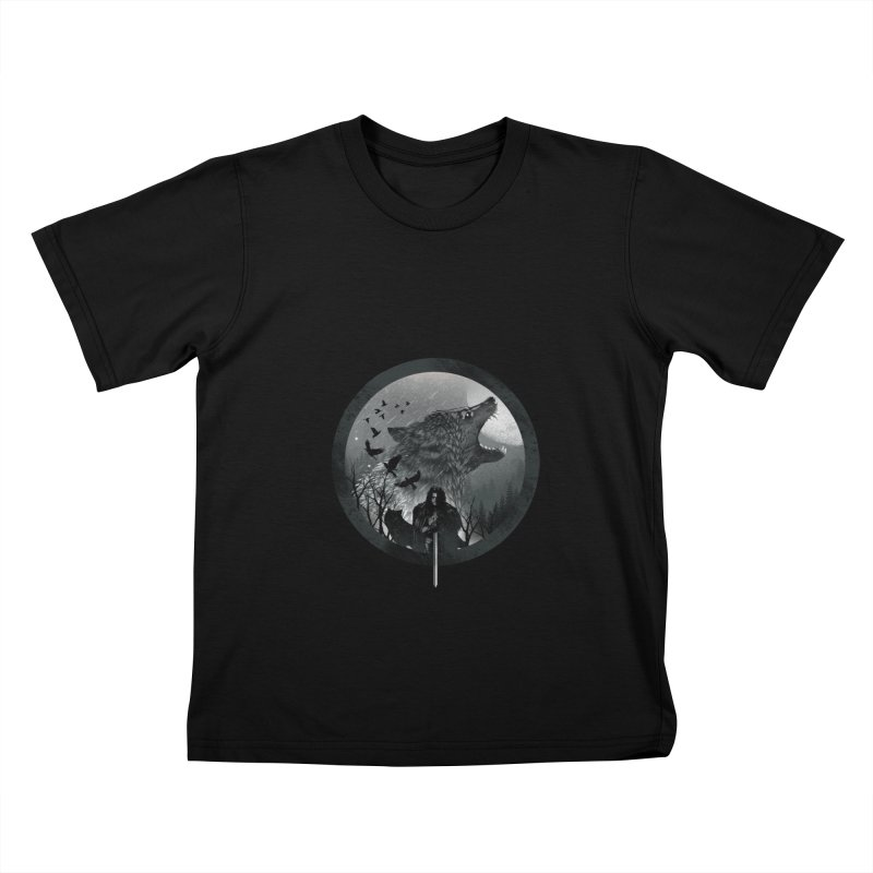 The King of the North Kids T-shirt by dandingeroz's Artist Shop