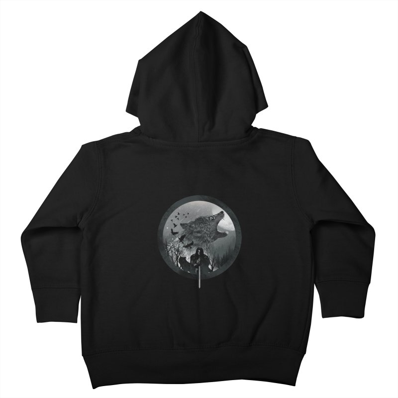 The King of the North Kids Toddler Zip-Up Hoody by dandingeroz's Artist Shop
