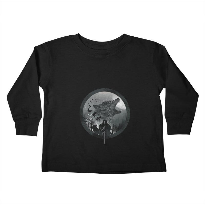 The King of the North Kids Toddler Longsleeve T-Shirt by dandingeroz's Artist Shop