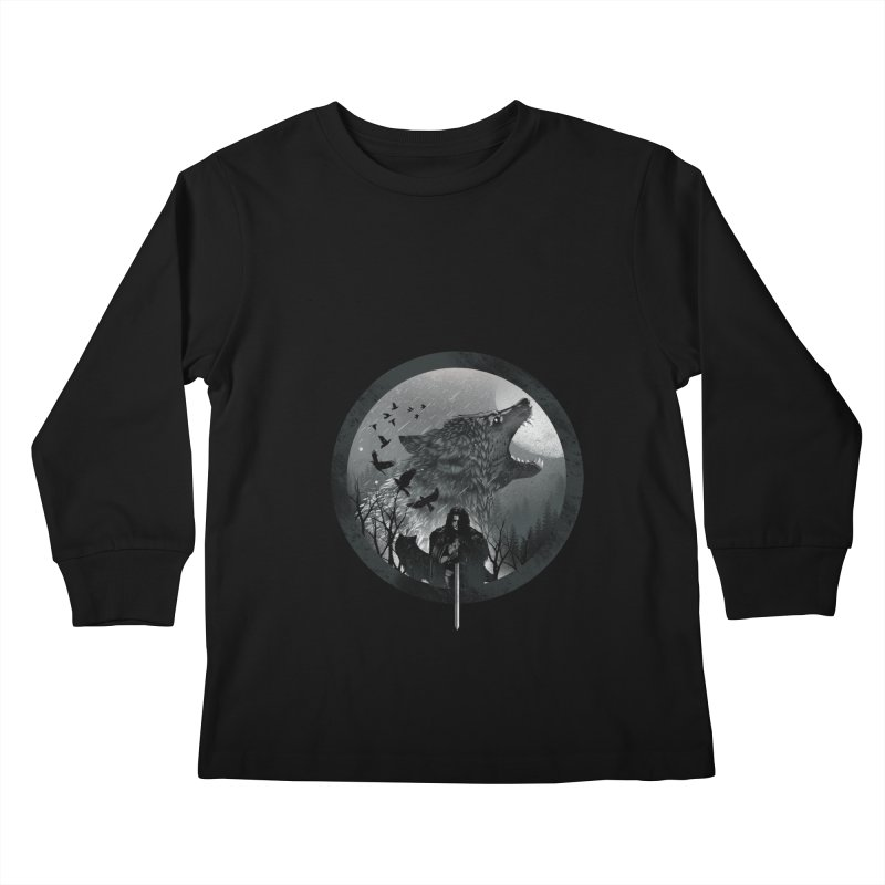 The King of the North Kids Longsleeve T-Shirt by dandingeroz's Artist Shop