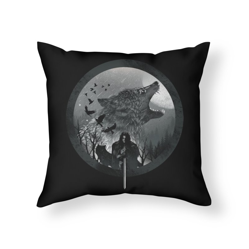 The King of the North Home Throw Pillow by dandingeroz's Artist Shop