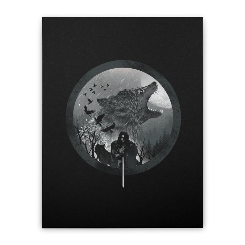 The King of the North Home Stretched Canvas by dandingeroz's Artist Shop