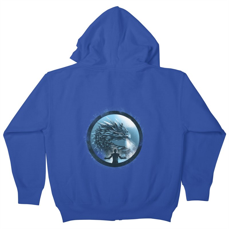 The Night King Kids Zip-Up Hoody by dandingeroz's Artist Shop