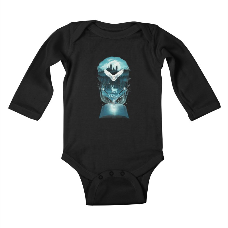Book of Fantasy Kids Baby Longsleeve Bodysuit by dandingeroz's Artist Shop