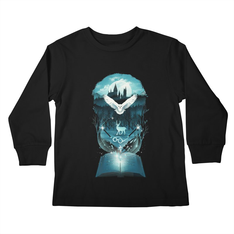 Book of Fantasy Kids Longsleeve T-Shirt by dandingeroz's Artist Shop