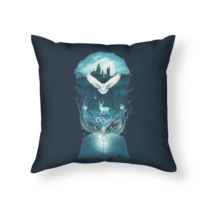Book of Fantasy Home Throw Pillow by dandingeroz's Artist Shop