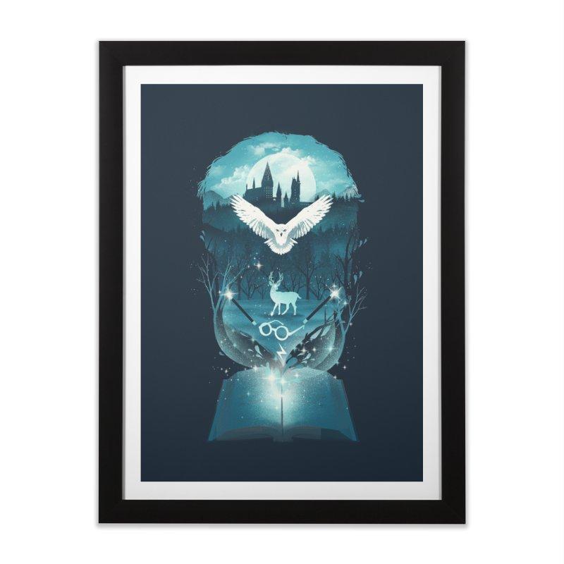 Book of Fantasy Home Framed Fine Art Print by dandingeroz's Artist Shop