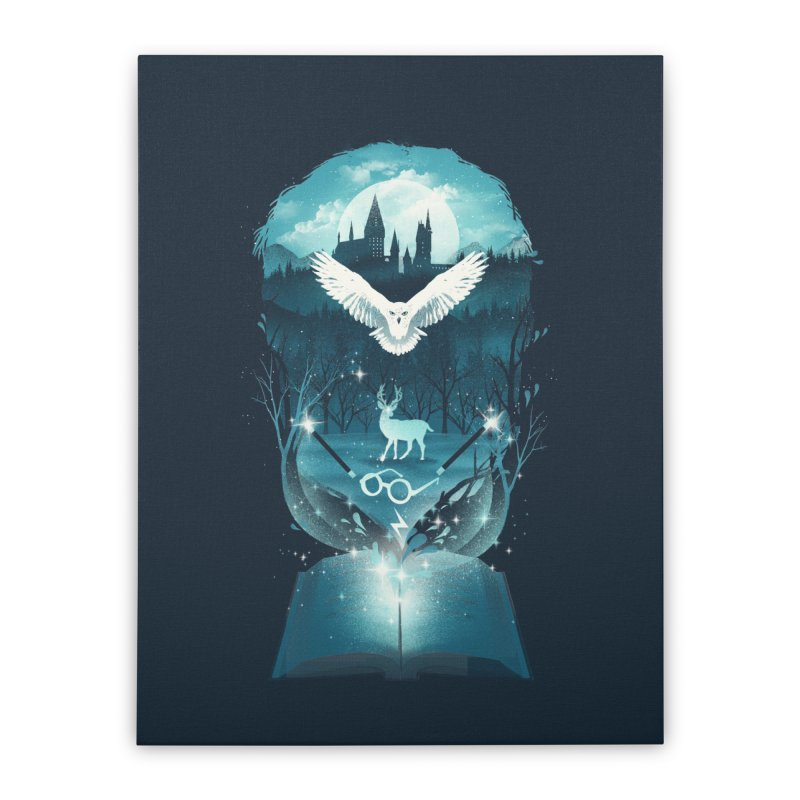 Book of Fantasy Home Stretched Canvas by dandingeroz's Artist Shop