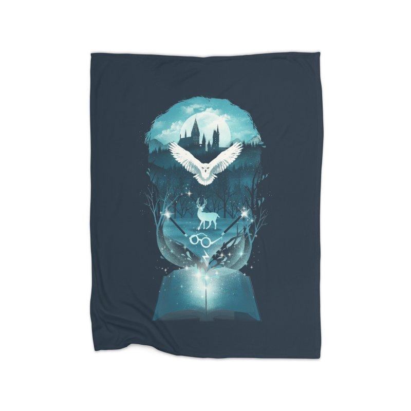 Book of Fantasy Home Fleece Blanket by dandingeroz's Artist Shop