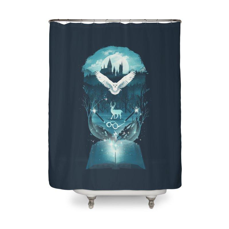Book of Fantasy Home Shower Curtain by dandingeroz's Artist Shop