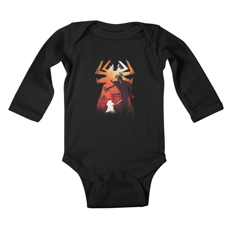 The Great Battle Kids Baby Longsleeve Bodysuit by dandingeroz's Artist Shop