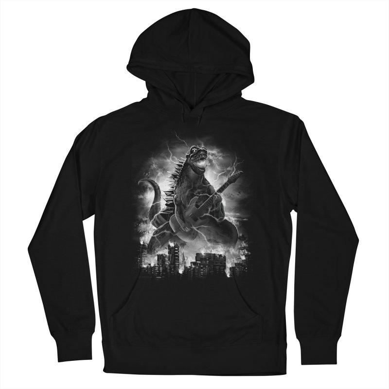 Rockzilla Men's Pullover Hoody by dandingeroz's Artist Shop