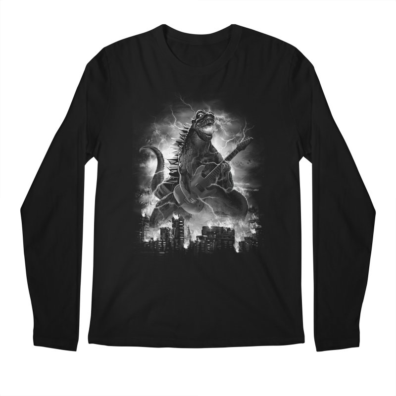 Rockzilla Men's Longsleeve T-Shirt by dandingeroz's Artist Shop