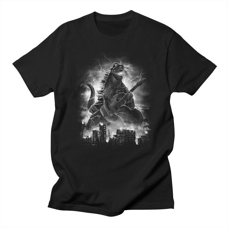 Rockzilla Men's T-shirt by dandingeroz's Artist Shop