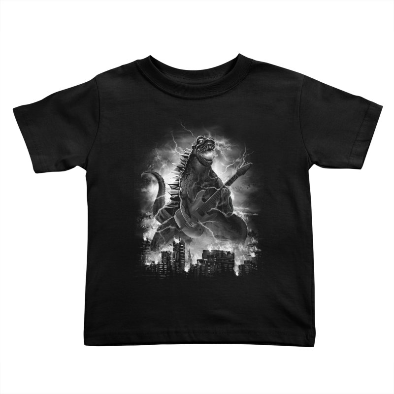 Rockzilla Kids Toddler T-Shirt by dandingeroz's Artist Shop