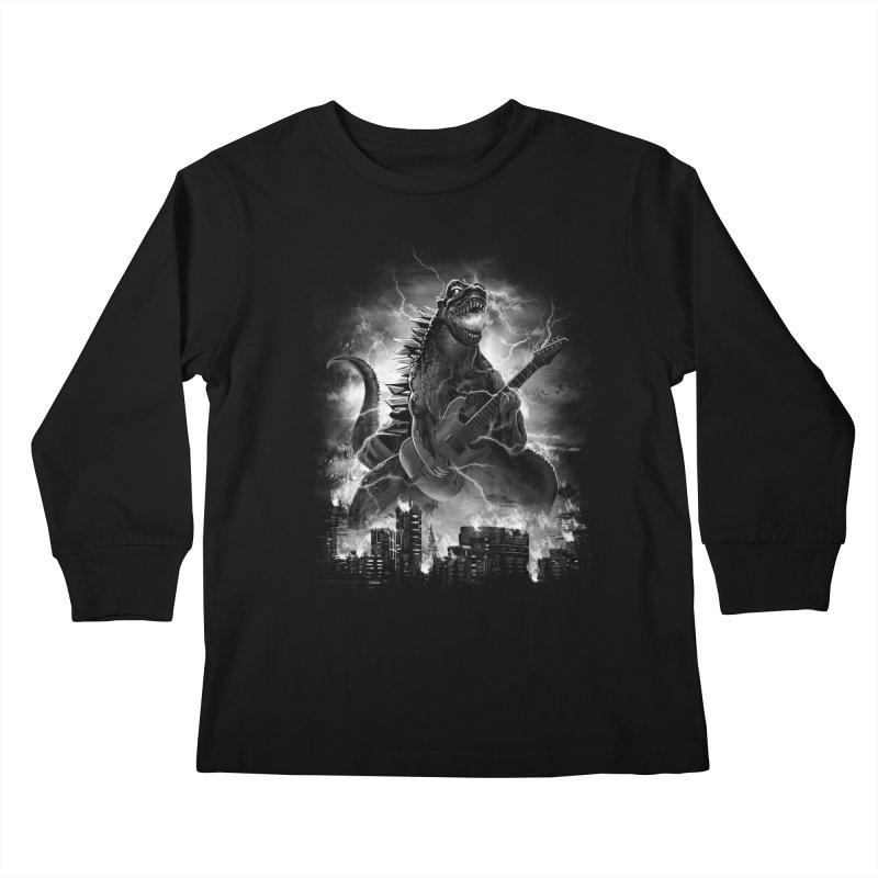 Rockzilla Kids Longsleeve T-Shirt by dandingeroz's Artist Shop