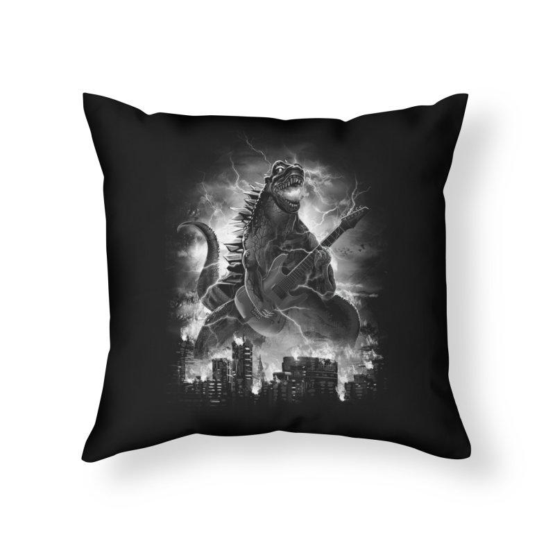 Rockzilla Home Throw Pillow by dandingeroz's Artist Shop